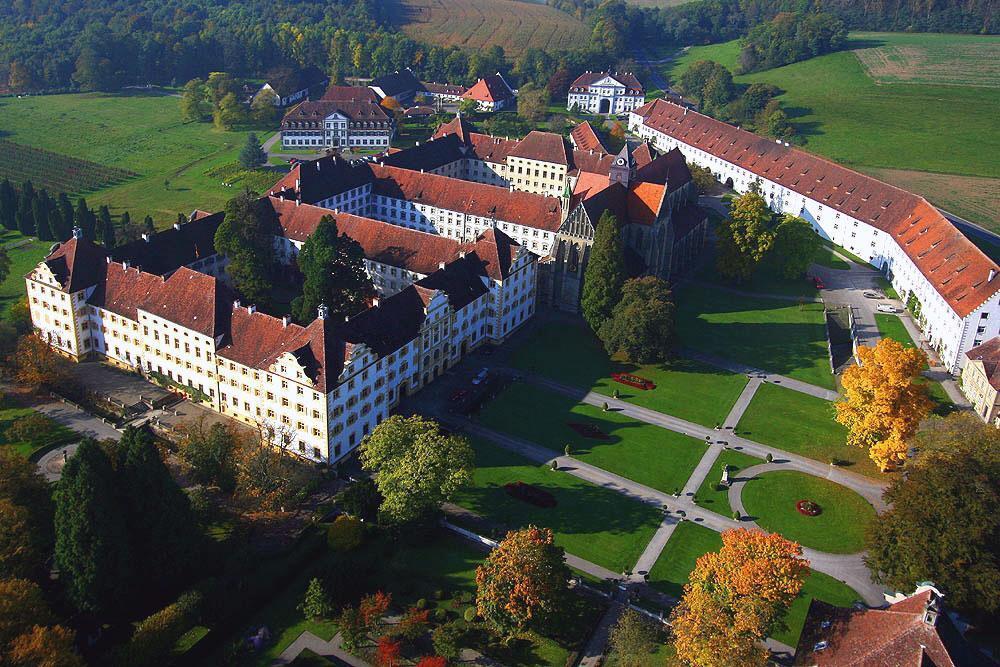 Luftansicht Kloster und Schloss Salem; Foto: Staatliche Schlösser und Gärten Baden-Württemberg, Achim Mende
