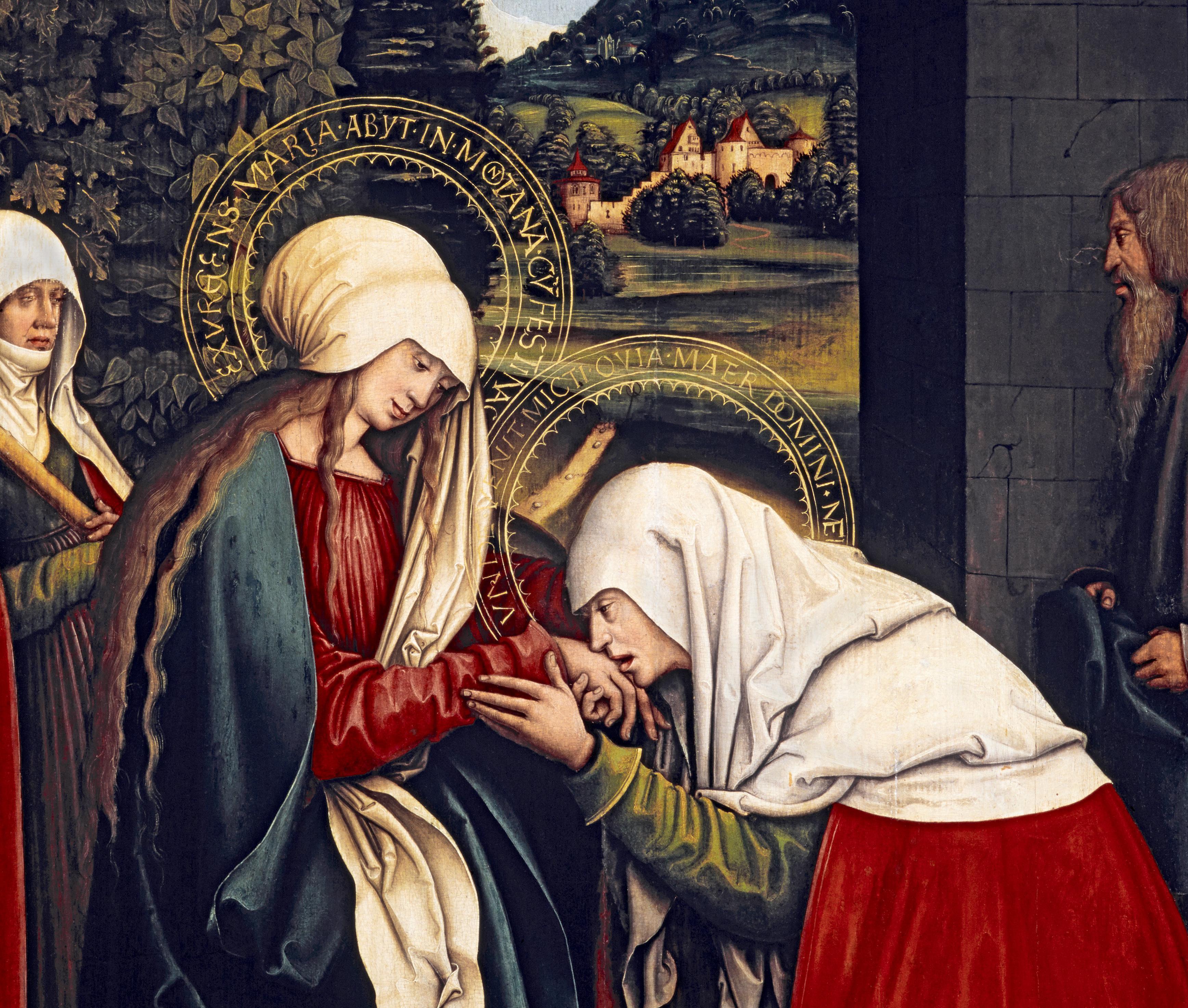 Zwei Szenen vom Marienaltar von Bernhard Strigel; Foto: Badisches Landesmuseum