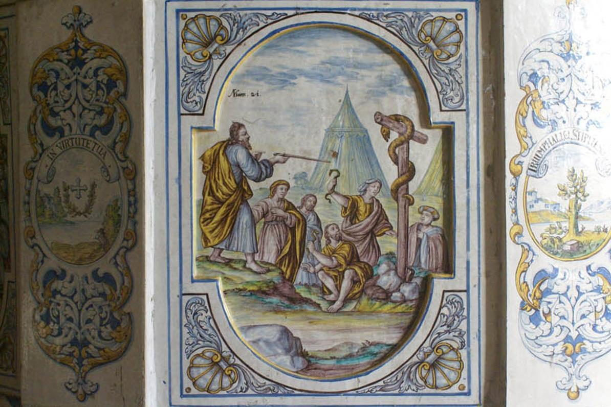 Salem Monastery and Palace, painted tiles of the stove; Photo: Staatliche Schlösser und Gärten Baden-Württemberg, Ortsverwaltung Salem