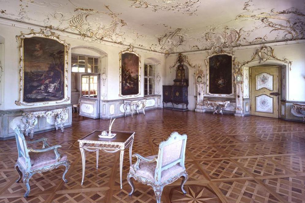 Abtsalon im Kloster und Schloss Salem; Foto: Staatliche Schlösser und Gärten Baden-Württemberg, Urheber unbekannt