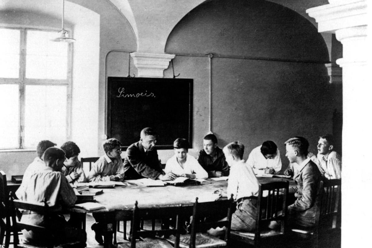 Humanistenklasse in der Schule Schloss Salem; Foto: Schule Schloss Salem