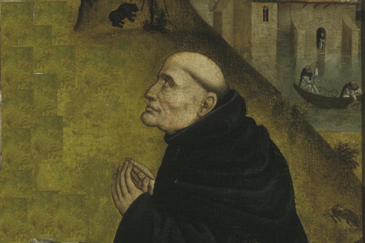 Bernhard von Clairvaux, Ausschnitt aus einem Tafelbild von 1485