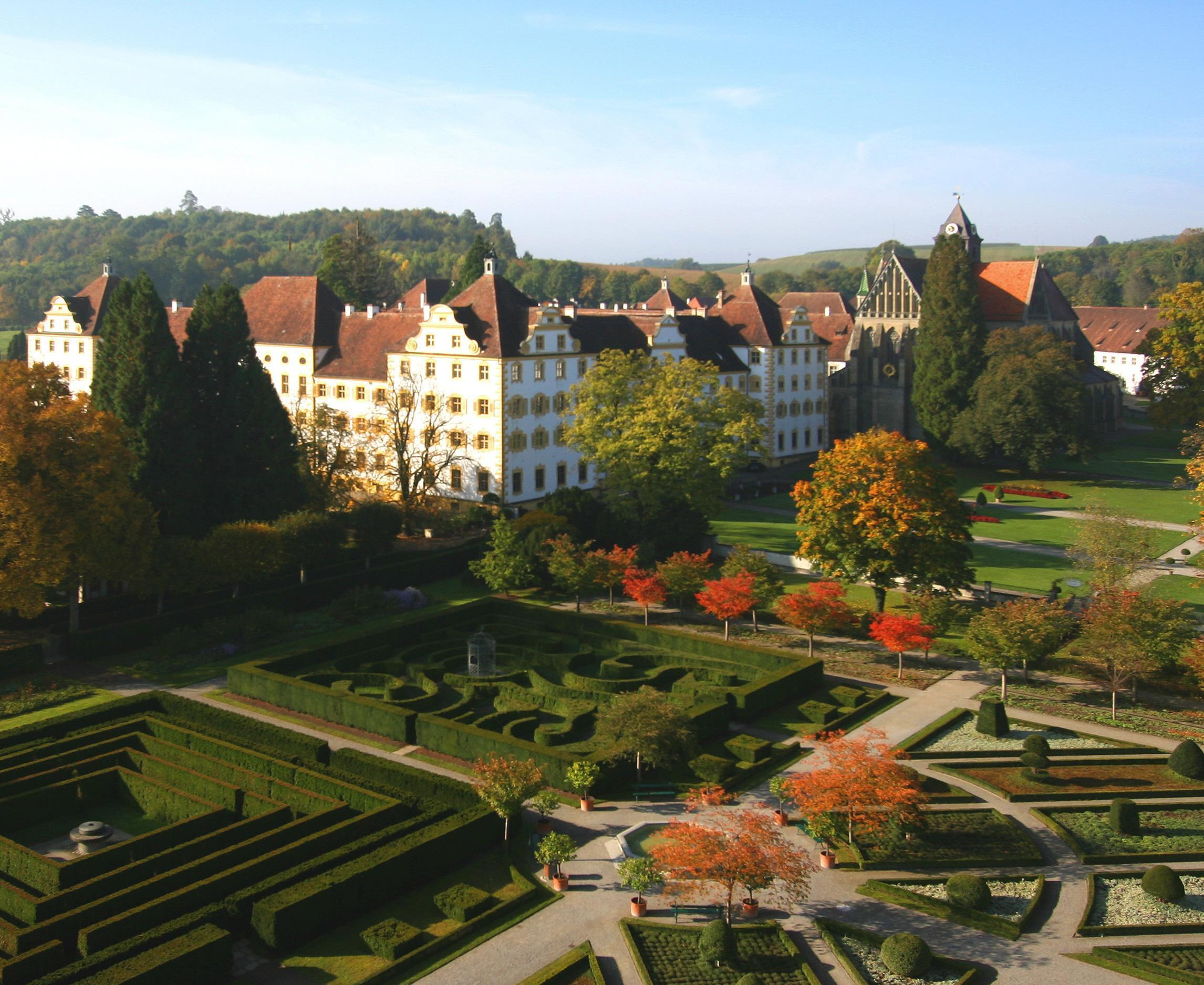 Monastère et Château de Salem, vue d'ensemble; l'image: Staatliche Schlösser und Gärten Baden-Württemberg, Achim Mende
