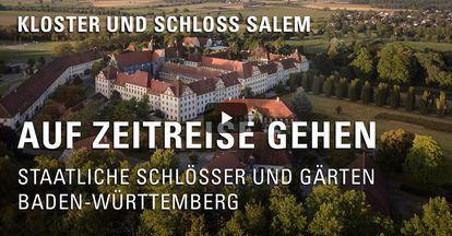 """Startbildschirm des Filmes """"Zeitreise mit Michael Hörrmann: Kloster und Schloss Salem"""""""