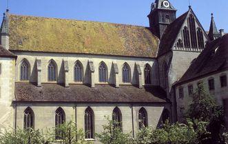 Blick von Südwesten auf das Langhaus der Klosterkirche Salem