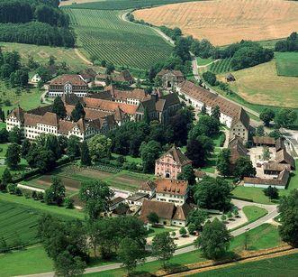 Kloster und Schloss Salem aus der Luft 1983; Foto: Landesmedienzentrum Baden-Württemberg, Dieter Jäger