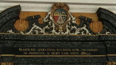 Inschrift über der Tür des Sommerrefektoriums, Kloster und Schloss Salem; Foto: Staatsanzeiger für Baden-Württemberg GmbH & Co. KG, Anja Stangl