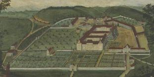 Historische Abbildung, Gesamtanlage von Kloster und Schloss Salem