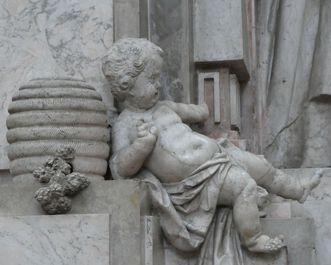 Kloster und Schloss Salem, Honigschlecker-Skulptur im Münster