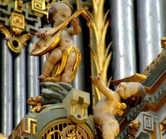 Detailansicht Orgel im Münster von Kloster und Schloss Salem; Foto: Hermann Böhne