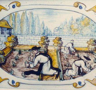 Detail des prächtigen Ofens; Foto: Staatliche Schlösser und Gärten Baden-Württemberg, Ortsverwaltung Salem