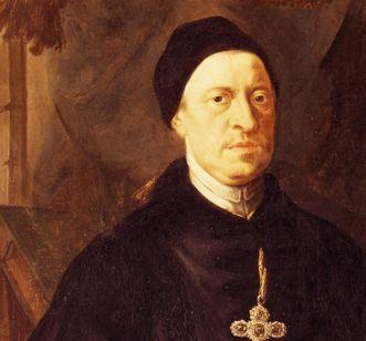 Abt Anselm II. Schwab, Gemälde in Kloster Salem, Detailansicht