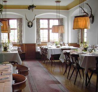 Blick in den Markgräflich Badischen Gasthof Schwanen; Foto: Restaurant Schwanen