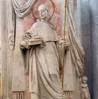 Detail des Bernhardusmonuments in der Vierung des Salemer Münsters