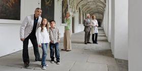 Besucher in Kloster und Schloss Salem