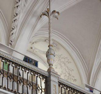 Detailansicht des Bibliothekssaals in Kloster und Schloss Salem