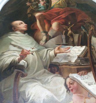 Ausschnitt aus einem der Gemälde im Bernhardusgang, Kloster Salem
