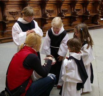Kinderführung in der Salemer Klosterkriche