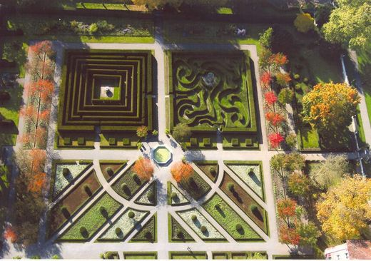 Salem Monastery, Aerial view of the labyrinth