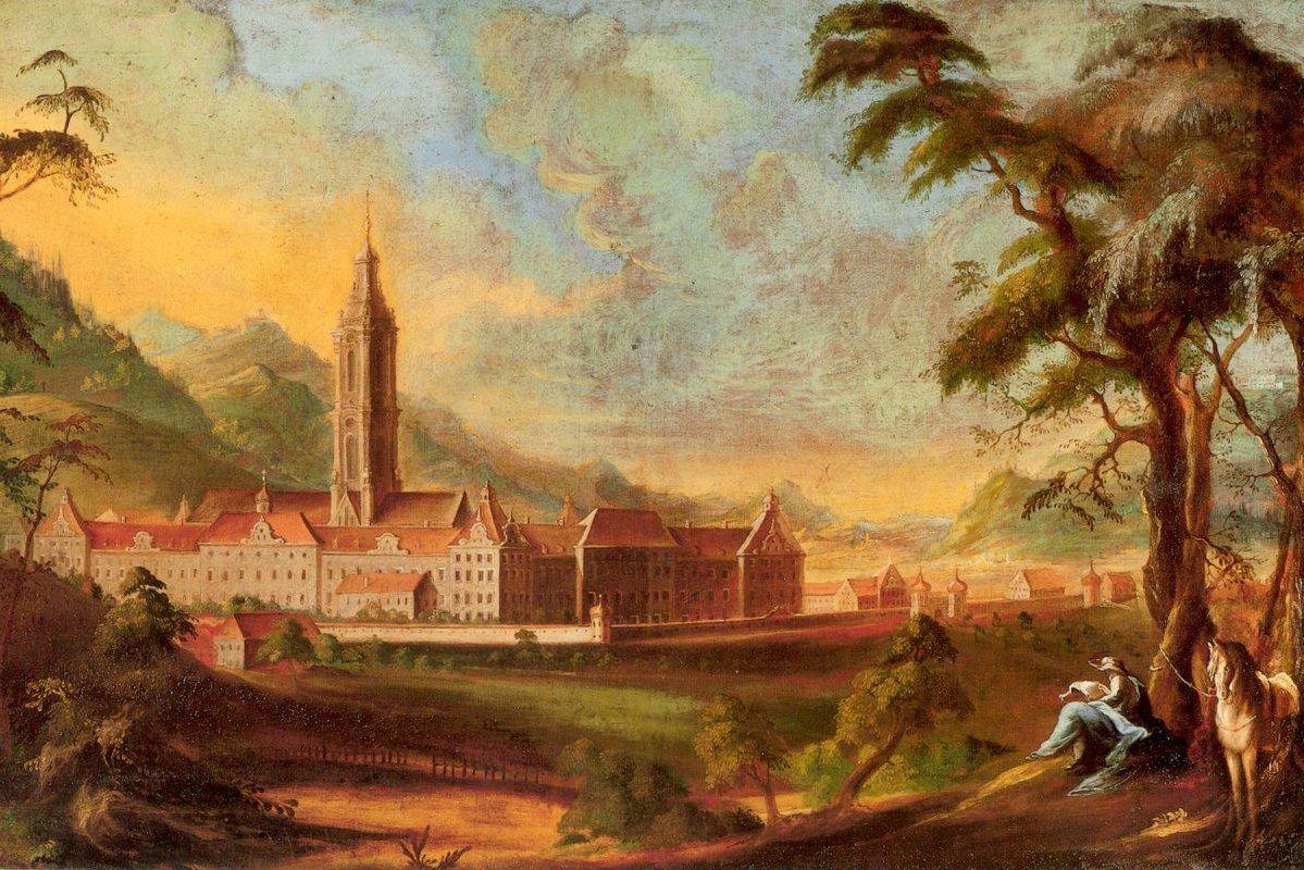 Klosteranlage Salem mit Turm, Andreas Brugger, um 1765