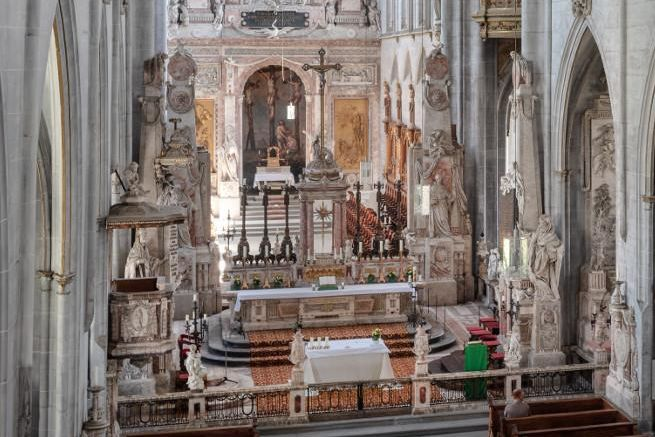 Kloster und Schloss Salem, Blick Richtung Altarraum des Münsters