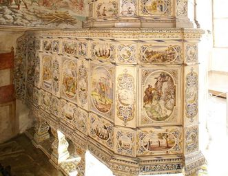 Detailansicht des Ofens von Kloster und Schloss Salem
